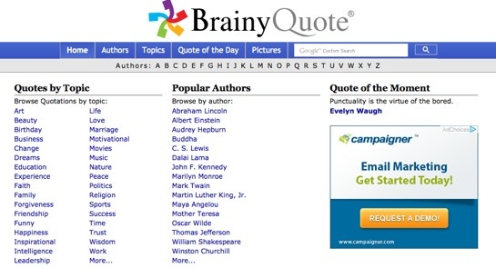 20 Best Quote Websites - Bloghug.Com