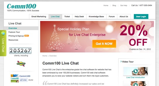 Top 25 Live Chat Software - BlogHug com