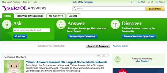 best question and answer sites