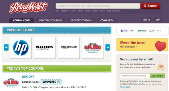 Use coupon code websites to promote your coupons
