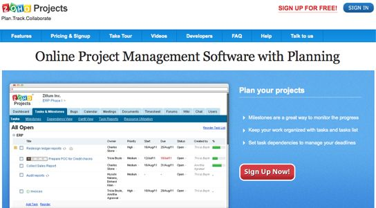 Zoho Projects Software