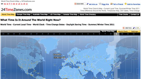 12 best wordclock timezone converter websites bloghug 24timezones is free website and offers world time world clock current gumiabroncs Image collections