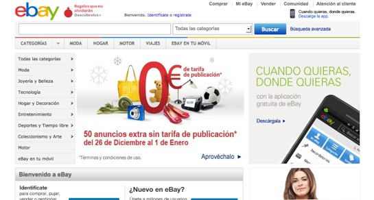 Spanish online shopping sites